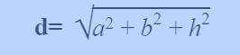Công thức tính đường chéo hình hộp chữ nhật