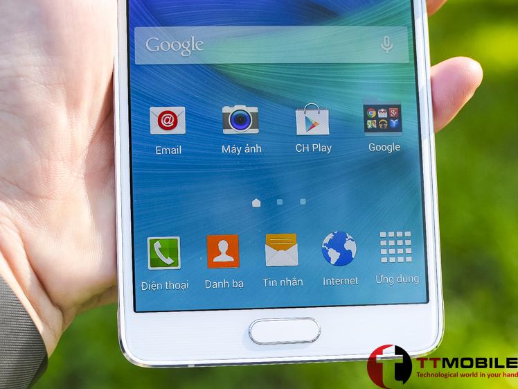 Màn hình AMOLED vớiđộ phân giải 2K của Samsung Galaxy Note 4