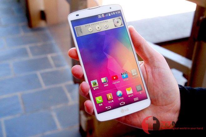 Điện thoại LG G4 hiển thị ngoài trời