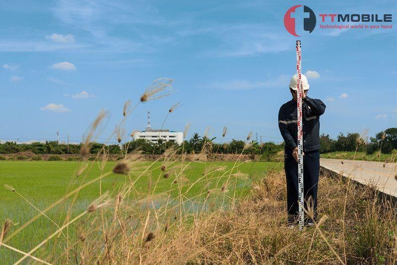 Đo đạc diện tích đất nông nghiệp và lộ giới đường qua hệ thống đo lường hecta