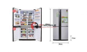 Kích thước tủ lạnh 2 cánh 1