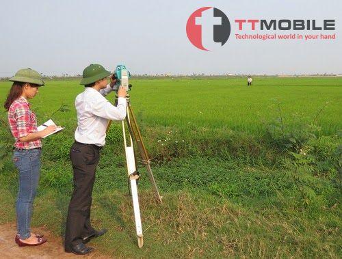 Ứng dụng đo đạc thực địa trên diện tích đất nông nghiệp thường tính bằng ha