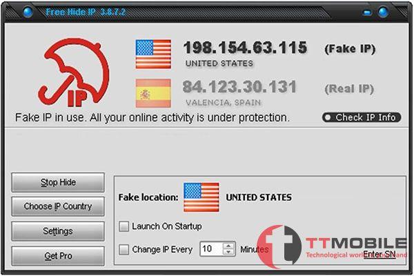 Phần Mềm Fake IP Win 10 Free Hide IP
